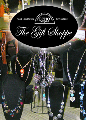 The Gift Shoppe at Echo Pharmacy is fully stocked with gifts for many occasions